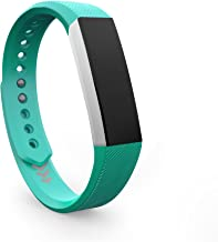 Teak Fitbit Alta Bands, Silicone and Milanese Loop Stainless Steel Accessories for The Fitbit Alta, Large, Small, Universal Sizes. Large Selection of Colors, by