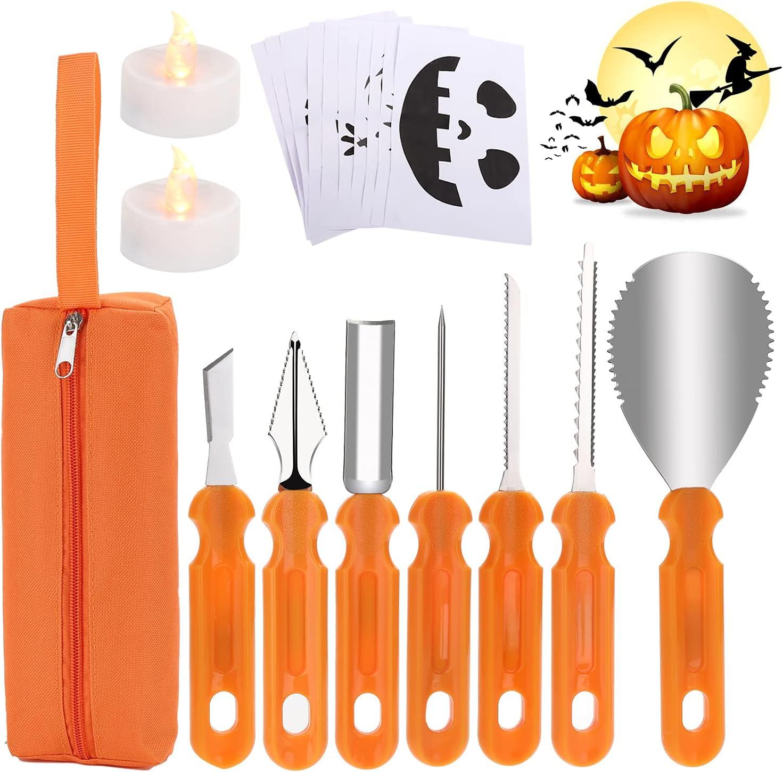 Halloween Pumpkin Carving Kit,20 PCS Pumpkin Carving Tools Sets