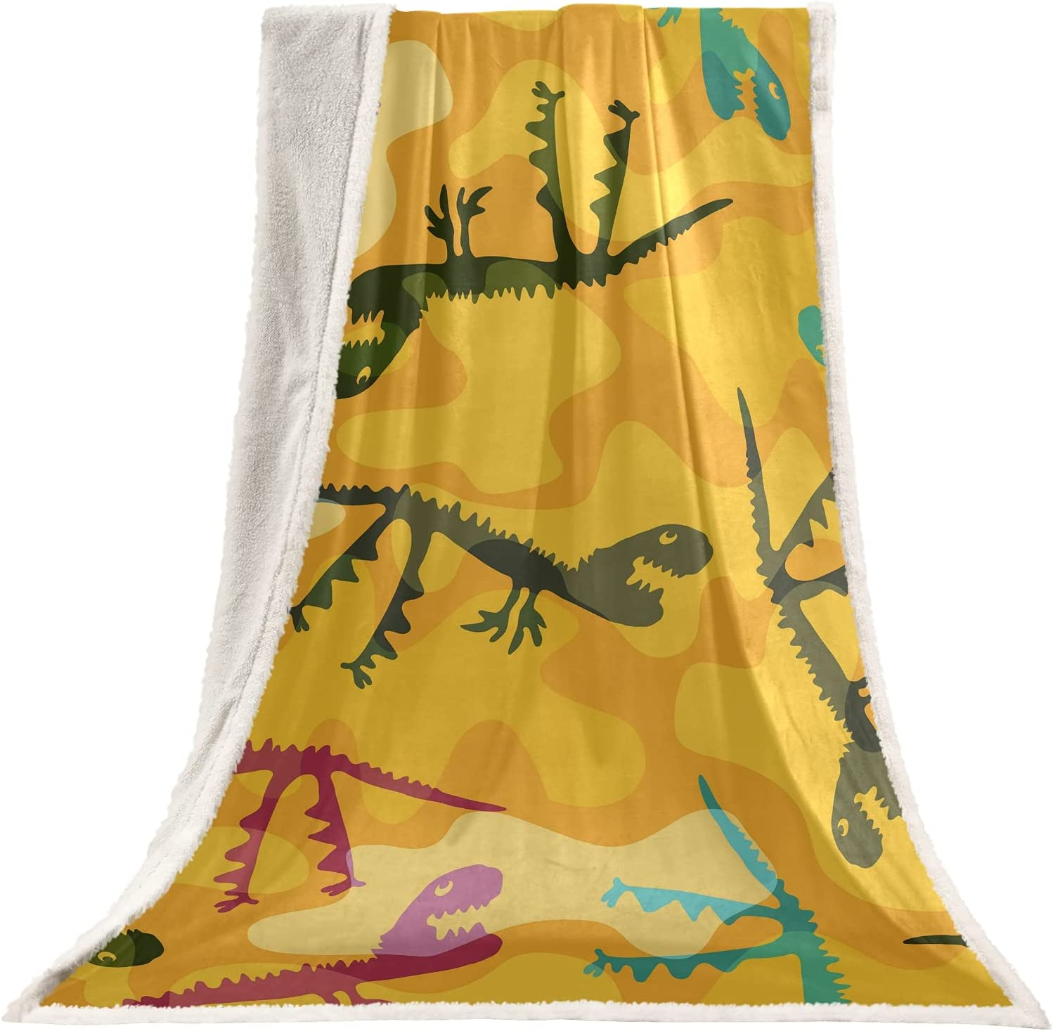 SUABO Ranking integrated 1st place Camo Dinosaur Throw Blanket for Be Boston Mall Soft Girls Boys Adults