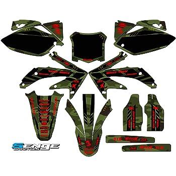 Apache Green Base Graphics kit Senge Graphics kit compatible with Honda 2005-2007 CRF 450X