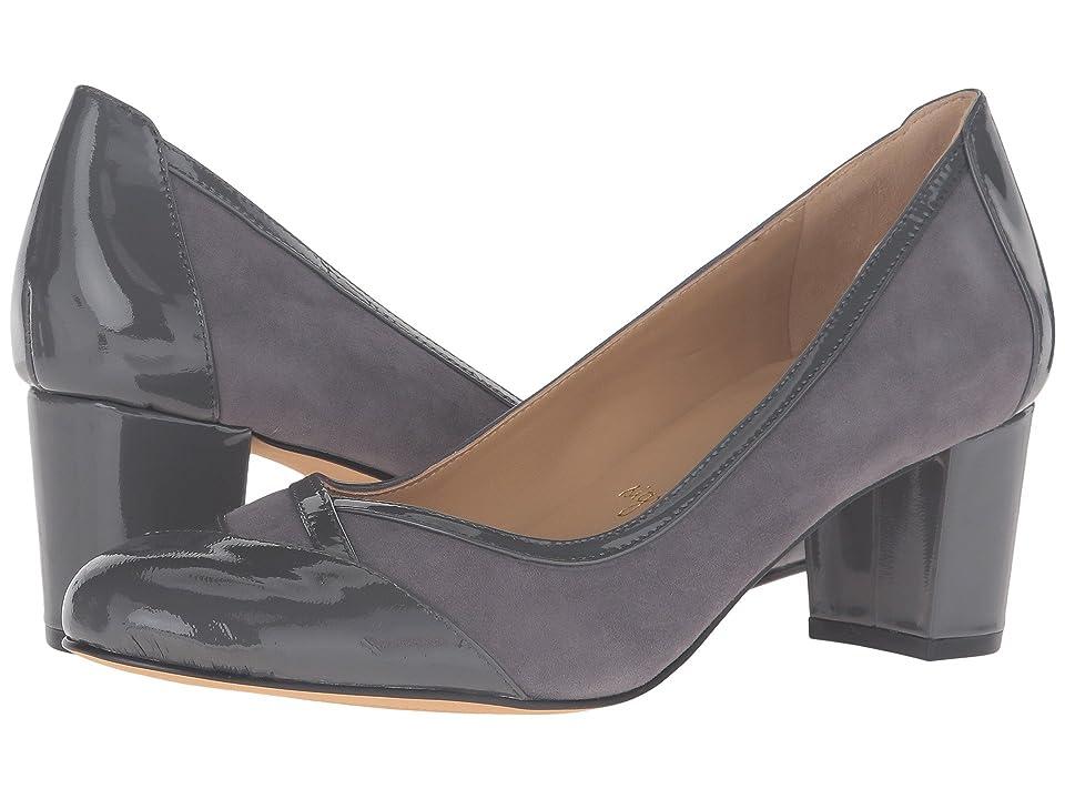Trotters Phoebe (Dark Grey Kid Suede/Patent Leather) High Heels