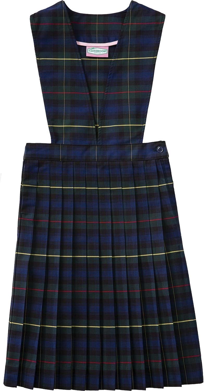 Classroom School Uniform V-Front Girls Regular Dress 5PC4622A, 14, Navy
