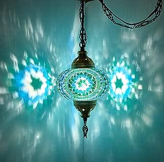 Best mosaic glass hanging lamp Reviews