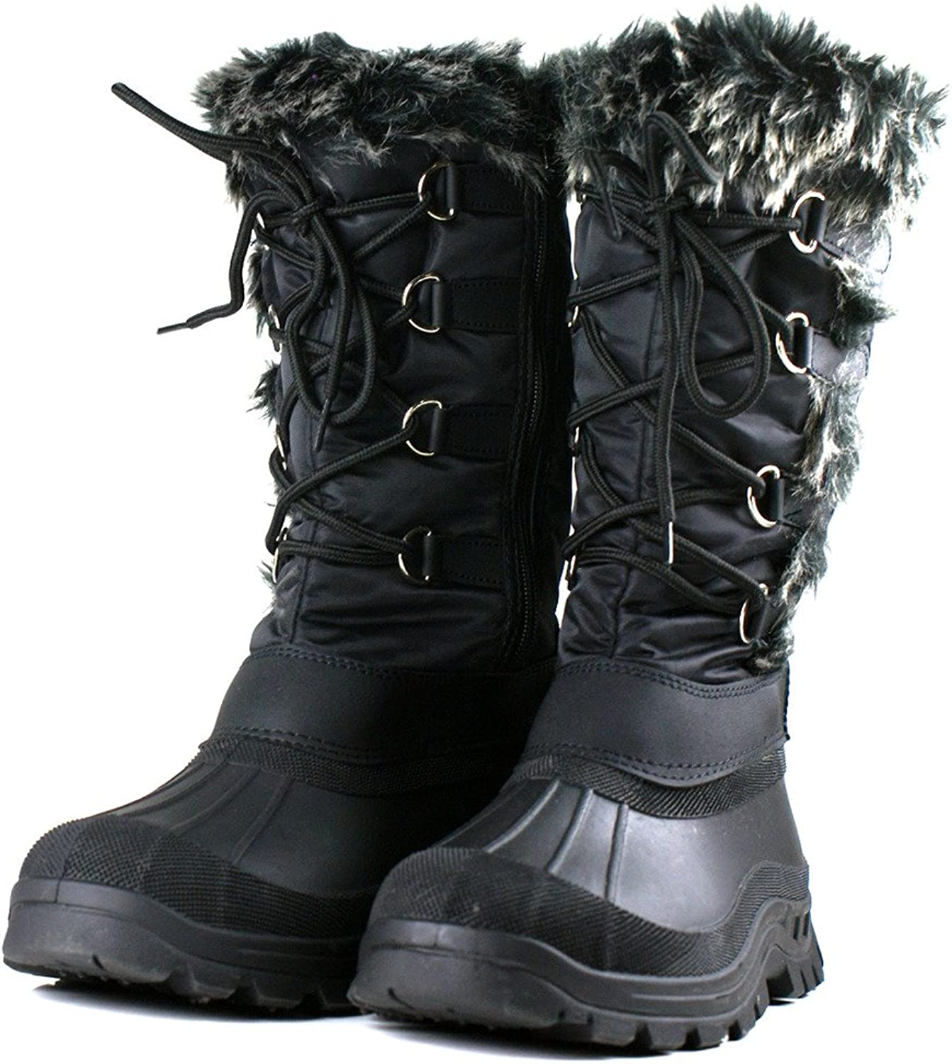 Own shoes Ownshoes Women's Lace Up Fur Rubber Duck Snow Boots