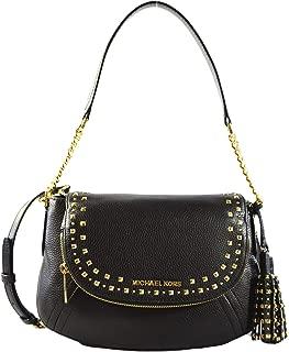 Michael Kors Aria Studded Tassel Medium Convertible Leather Shoulder Crossbody Bag Purse Handbag