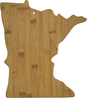 Totally Bamboo 20-7955MN Minnesota State Shaped Bamboo Serving & Cutting Board