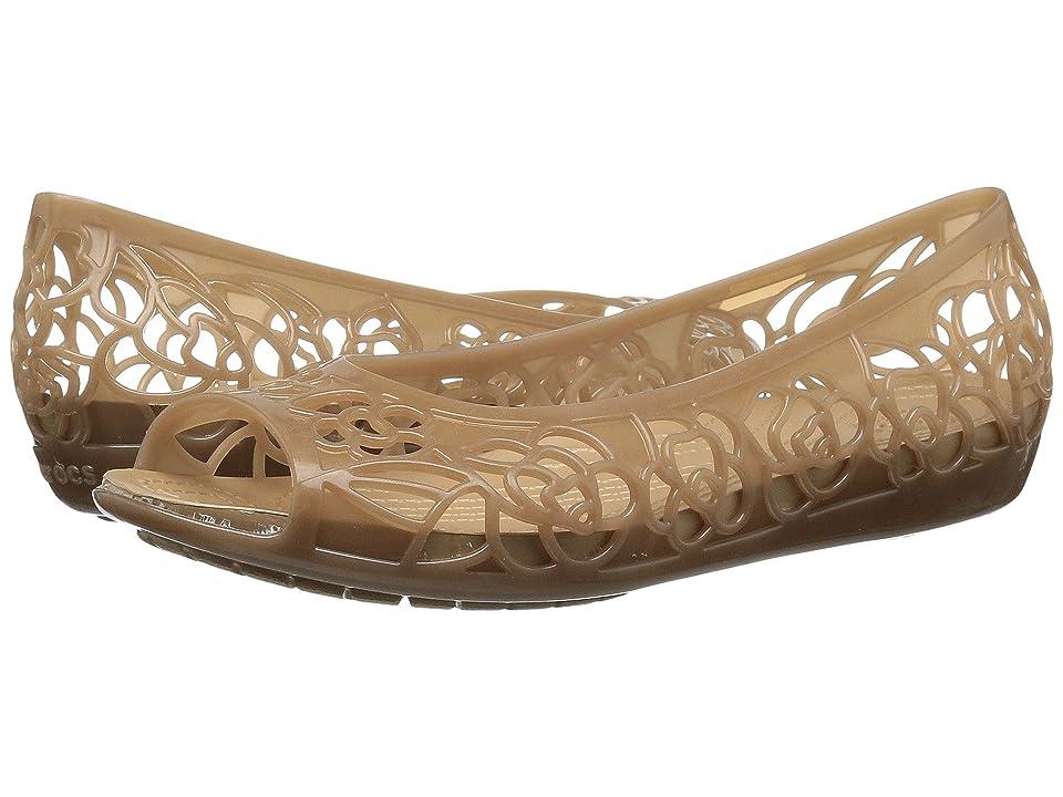 Crocs Isabella Jelly Flat (Bronze/Gold) Women