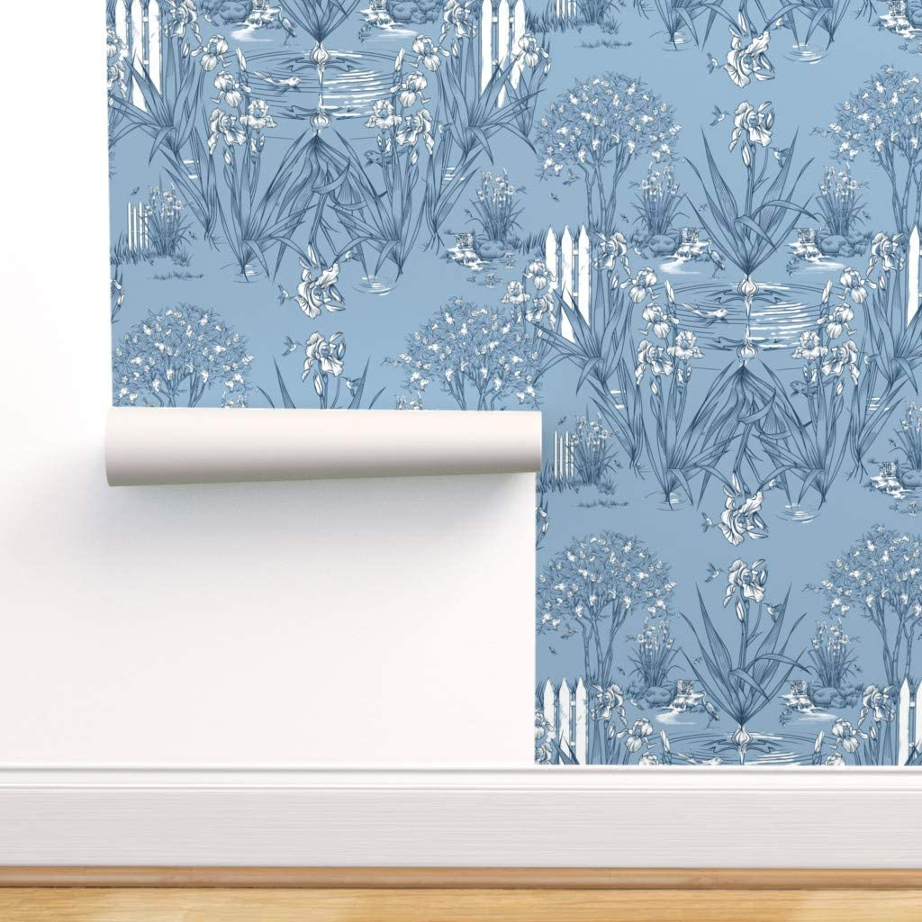 Spoonflower Peel and Tucson Mall Stick Removable N Ranking TOP4 Flowers Floral Wallpaper