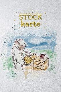 Stockkarte: Bienen Stockkarte für Imker zum ausfüllen - alle Daten des Bienestockes, der Bienenbeute, dem Bienenvolk und dem Honig einfach in ... Werkzeug für Imker und Bienenfreunde