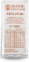 Hanna Instruments HI 70031P Conductivity Calibration Solution, 1,413 microsiemens/cm, 20mL Sachet