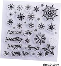 Christmas Tree Snowflake Stamps Transparent Sock Clear Rubber Deer Stamp for Scrapbooking Paper Card Party,Snowflake Stamp