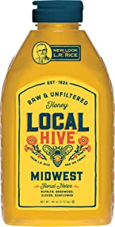 Local Hive from L.R Rice, Raw Honey, Pure and Unfiltered, Local Midwest United States Beekeepers, 40oz