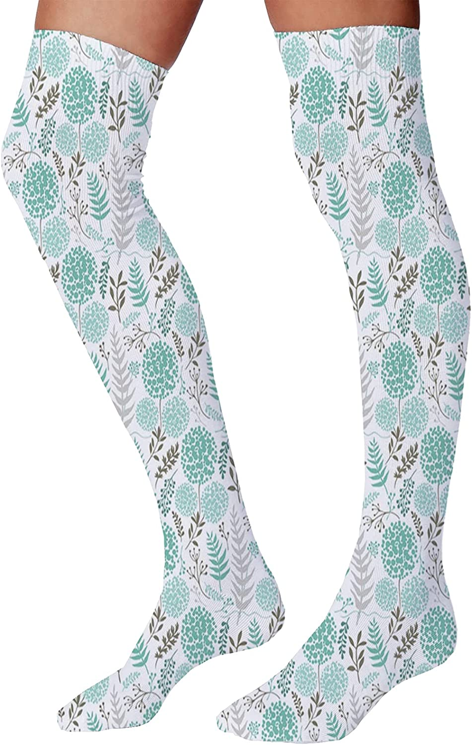 Men's and Women's Fun Socks,Abstract Design Different Seashells Doodle Stylized Pastel Tone Coastal Icons Pattern