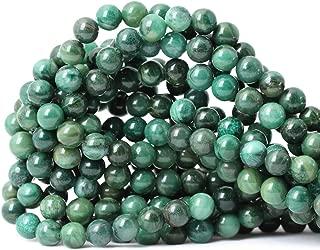 CHEAVIAN 45PCS 8mm Natural Verdite Stone African Jade Gemstone Round Loose Beads for Jewelry Making DIY Findings 1 Strand 15