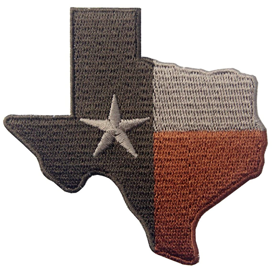 Tactical Texas State Flag Embroidered Emblem Iron On Sew On TX Patch - Subdued Red