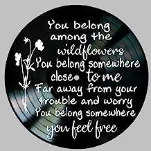 Wildflowers Song Lyric Art Inspired by Tom Petty Vinyl Record Album Wall Decor