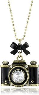 Betsey Johnson Royal Engagement Large Camera Long Pendant Necklace