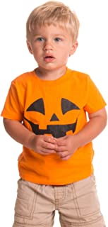 Little Boys' Pumpkin Face Jack O' Lantern | Cute Toddler Halloween T-Shirt