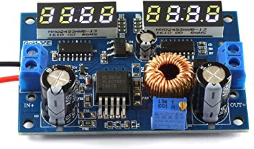 DZS Elec DC-DC 5A Buck Converter 5V-36V 24V 12V to 3.3V-34V 12V 5V LM2596 Adjustable Step-Down Constant Voltage Power Module Dual LED Input/Output Voltage Synchronous Display Digital Module