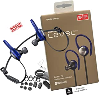 Samsung Level Active Bluetooth Wireless Fitness Earbuds HD Premium Sound Sweat & Splash Resistant - with Car-Charger 3FT USB C OTG (US Retail Packing Kit)
