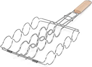 Internet's Best Stainless Steel Corn Grilling Basket   Corn Holder for Grill   22.5 Inch Long   Wooden Handle