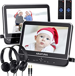 Dual Portable DVD Player for Car with Headrest Mount,headrest DVD Player for Kids with Region Free,Last Memory,HDMI Input ...