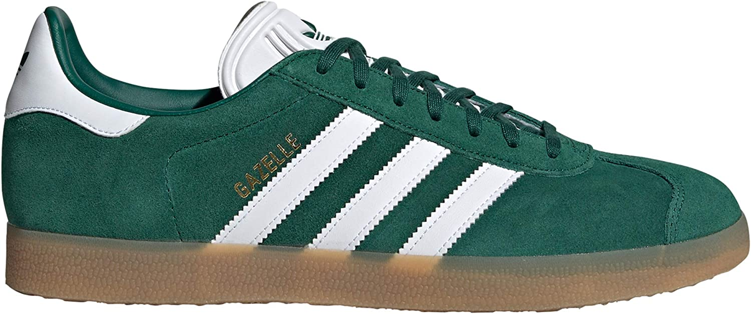 Adidas original Gazelle Herren Turnschuhe. Schuhe Low-Top (45 1 3 EU, Collegiate Grün Gum4)