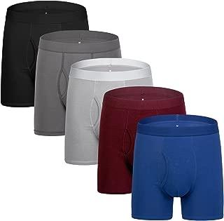 Dream Catcher Mens Underwear Long Boxer Briefs Men's Cotton Boxer Shorts Pack of 5