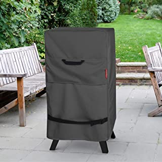 Porch Shield Electric Smoker Cover 40 inch - Waterproof Heavy Duty Outdoor Smoker Grill Covers 24W x 18D x 40H inch, Black