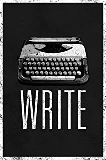 Write Retro Manual Typewriter Black and White Cool Wall Decor Art Print Poster 24x36