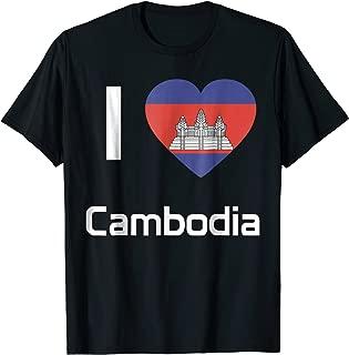 I love Cambodia T-shirt Tee Tees T Shirt Tshirt