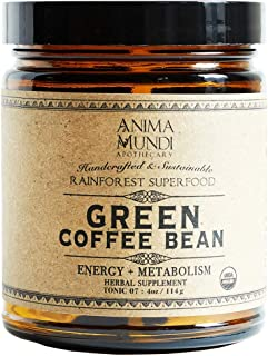 Anima Mundi Green Coffee Bean Energy + Metabolism Powder - Extra Strong Extract Powder with 45% Active Chlorogenic Acid (4oz / 114g)