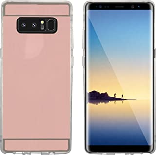 Galaxy Note 8 Case, Customerfirst [Reflection Guard Series] Luxury Mirror Back Slim Shock-Absorption TPU Protective Case for Samsung Galaxy Note 8+Emoji Keychain (Rose Gold)