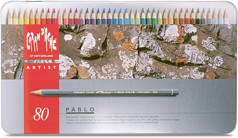 Farbstift Caran dAche Pablo 80er Metalletui B0013IH6RS  | Zuverlässige Qualität