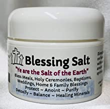 Urban ReLeaf Blessing Salt! Blessed Dead Sea Salt from Israel. Holy Ceremony Wedding Anointing Baptism Meals Housewarming, Healing Minerals, Purify, Meditate, Cleanse, Sacrament