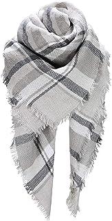 Scarfs For Women, HITOP Classic Plaid Soft Tartan Blanket Scarf Wrap, Womens Winter Tassel Shawl Scarves