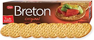 Dare Breton Crackers, Original – Party Snacks with no Artificial Flavors and 0g of Trans Fat per Serving – 8 Ounces (Pack of 12)