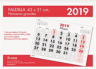 Calendario 2019 Letras Grandes Para Imprimir.Amazon Es Calendario De Pared Numeros Grandes