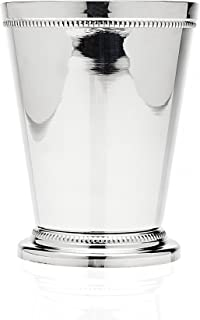 Godinger Beaded Barware Beaded 4-1/4 Mint Julep Cup, (1, Silver) by Godinger