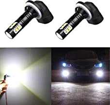 Alla Lighting 881 889 High Power 50W CREE Extremley Bright 6000K Xenon White Fog Lights Lamps Replacement 862 886 894 896 898