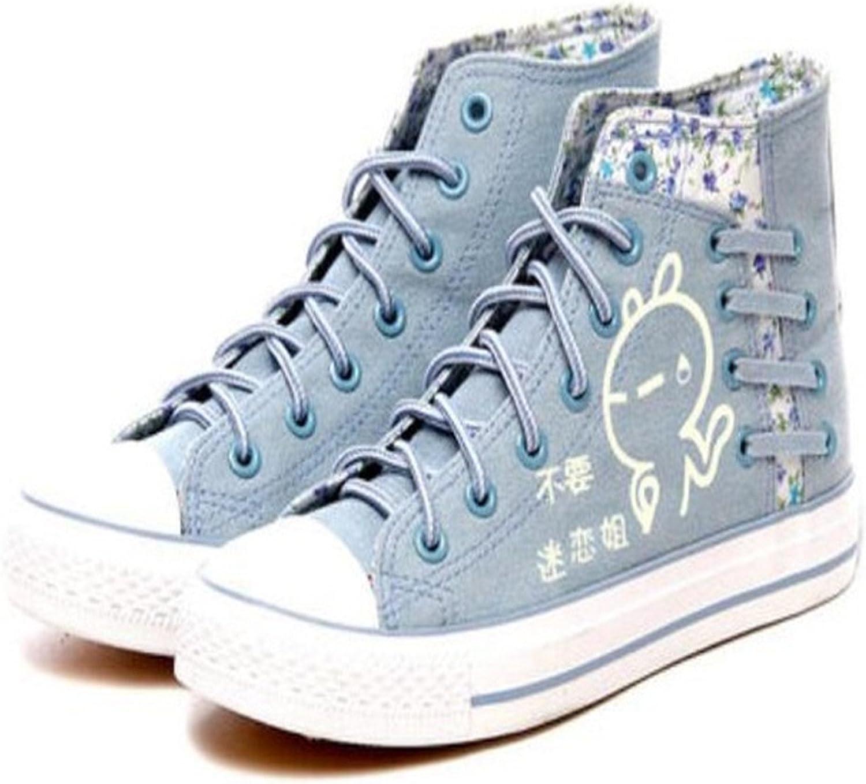 Sville Mary 2017 Fashion Denim shoes Women Casual Canvas shoes High Platform shoes