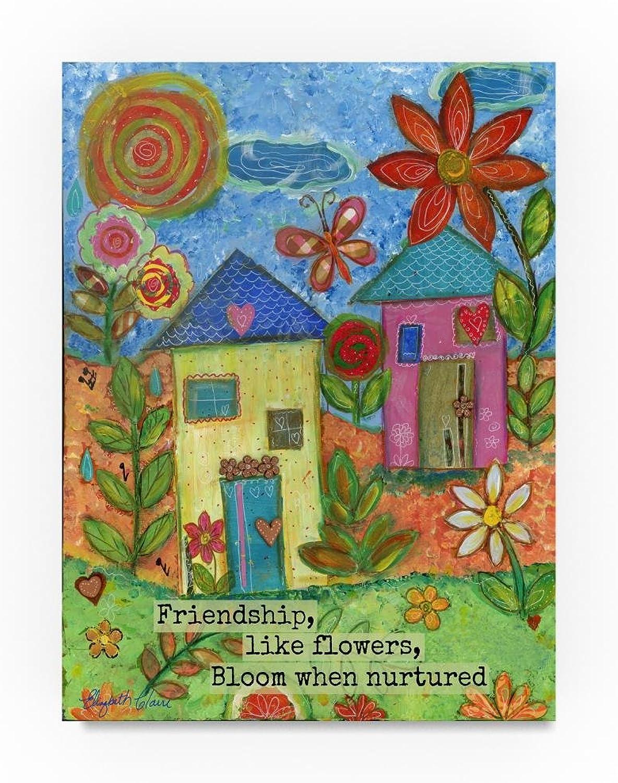 Trademark Fine Art Elizabeth Claire Friendship Like Flowers, 14x19Inch