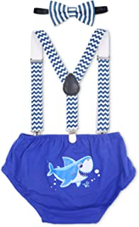Eunikroko Baby Shark First Birthday Outfit