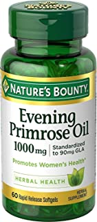 Nature's Bounty Nature's Bounty Evening Primrose Oil, 1000mg, 120 Softgels (2 X 60 Count Bottles), 120 Count ()