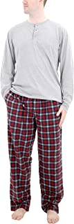 IZOD Men's Microfleece Pant and Jersey Knit Long Sleeve Henley Top Set