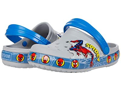 Crocs Kids FL Spider Man Lights Clog (Toddler/Little Kid) (Light Grey) Boy