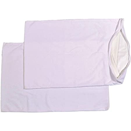 """Trance Home Linen Waterproof & Dustproof Pillow Protector White 28"""" x 18"""" -Pack of 2"""