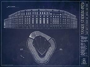 Old Yankee Stadium (1923) Blueprint Style Print