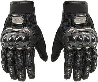 Luva Moto Motoqueiro Motocross Motociclista Bike Pró Preta Proteção Mãos Fibra De Carbono Tamanho Único - PLP MANIA