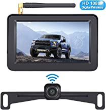 $109 » DoHonest HD 1080P Digital Wireless Backup Camera Kit with 5 Inch TFT Monitor for Trucks,Cars,SUVs,Vans,Campers Rear View Camera Super Night Vision